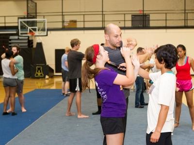 Students in Varsity Gym