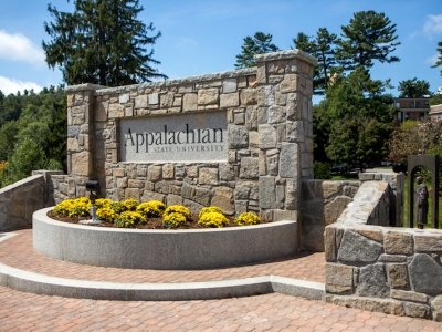 "New Appalachian Sign Plaza: ""Founders Plaza"""